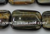 CTE1383 15.5 inches 25*35mm rectangle yellow & blue tiger eye beads