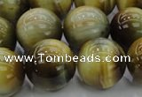 CTE1447 15.5 inches 18mm round golden & blue tiger eye beads