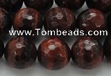 CTE1465 15.5 inches 14mm faceted round red tiger eye beads