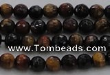 CTE1471 15.5 inches 6mm faceted round mixed tiger eye beads