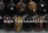 CTE1485 15.5 inches 10*16mm faceted rondelle mixed tiger eye beads