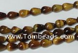CTE150 15.5 inches 5*8mm teardrop yellow tiger eye gemstone beads