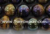 CTE1503 15.5 inches 10mm round AB-color yellow tiger eye beads