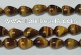 CTE151 15.5 inches 6*9mm teardrop yellow tiger eye gemstone beads