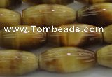CTE1522 15.5 inches 8*18mm rice golden tiger eye beads wholesale