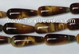 CTE153 15.5 inches 8*22mm teardrop yellow tiger eye gemstone beads