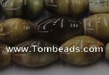 CTE1556 15.5 inches 13*18mm rice golden & blue tiger eye beads wholesale