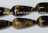 CTE156 15.5 inches 12*26mm teardrop yellow tiger eye gemstone beads