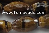 CTE1584 15.5 inches 15*20mm faceted rice yellow tiger eye beads