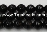 CTE1601 15.5 inches 6mm round AB grade black tiger eye beads