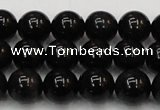 CTE1602 15.5 inches 8mm round AB grade black tiger eye beads