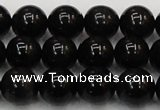 CTE1603 15.5 inches 10mm round AB grade black tiger eye beads