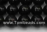 CTE1605 15.5 inches 14mm round AB grade black tiger eye beads