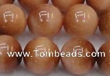 CTE1656 15.5 inches 16mm round sun orange tiger eye beads