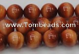 CTE1662 15.5 inches 8mm round sun orange tiger eye beads