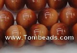 CTE1665 15.5 inches 14mm round sun orange tiger eye beads