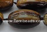 CTE1706 15.5 inches 22*35mm rice yellow tiger eye beads