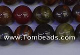 CTE1793 15.5 inches 10mm round red iron tiger beads wholesale