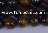 CTE1804 15.5 inches 12mm round blue iron tiger beads wholesale