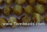 CTE1902 15.5 inches 8mm faceted nuggets golden tiger eye beads
