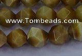 CTE1903 15.5 inches 10mm faceted nuggets golden tiger eye beads