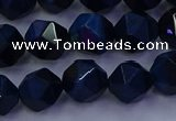 CTE1913 15.5 inches 10mm faceted nuggets blue tiger eye beads