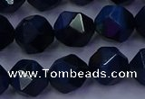 CTE1914 15.5 inches 12mm faceted nuggets blue tiger eye beads