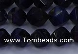 CTE1917 15.5 inches 8mm faceted nuggets blue tiger eye beads