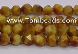 CTE1931 15.5 inches 6mm faceted nuggets golden tiger eye beads