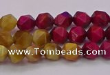 CTE1937 15.5 inches 8mm faceted nuggets mixed tiger eye beads