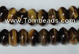 CTE196 15.5 inches 7*12mm rondelle yellow tiger eye gemstone beads