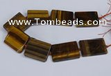 CTE1960 15.5 inches 35*45mm - 35*50mm rectangle yellow tiger eye beads