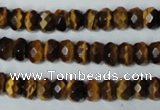 CTE199 15.5 inches 7*10mm faceted rondelle yellow tiger eye gemstone beads