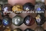 CTE2001 15.5 inches 6mm faceted round AB-color mixed tiger eye beads