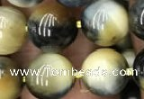 CTE2018 15.5 inches 12mm round golden & blue tiger eye beads wholesale