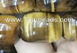 CTE2062 15.5 inches 15*20mm drum yellow tiger eye gemstone beads