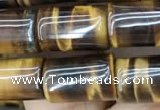 CTE2074 15.5 inches 8*12mm tube yellow tiger eye gemstone beads