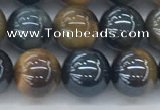CTE2086 15.5 inches 8mm round AB-color blue & yellow tiger eye beads