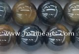 CTE2087 15.5 inches 10mm round AB-color blue & yellow tiger eye beads