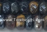 CTE2103 6*10mm faceted rondelle AB-color mixed tiger eye beads