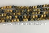 CTE2120 15.5 inches 6mm round golden & blue tiger eye beads