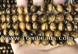 CTE2149 15.5 inches 10mm round yellow tiger eye beads wholesale