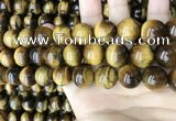 CTE2153 15.5 inches 18mm round yellow tiger eye beads wholesale