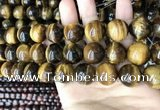 CTE2154 15.5 inches 20mm round yellow tiger eye beads wholesale