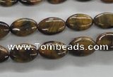 CTE301 15.5 inches 8*12mm oval yellow tiger eye gemstone beads