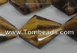 CTE333 15.5 inches 22*30mm pyramid yellow tiger eye gemstone beads