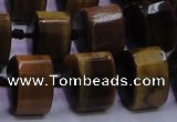 CTE340 11*15*15mm faceted triangle yellow tiger eye beads