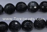 CTE445 15.5 inches 14mm faceted round blue tiger eye beads