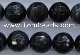 CTE446 15.5 inches 16mm faceted round blue tiger eye beads