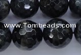 CTE448 15.5 inches 20mm faceted round blue tiger eye beads